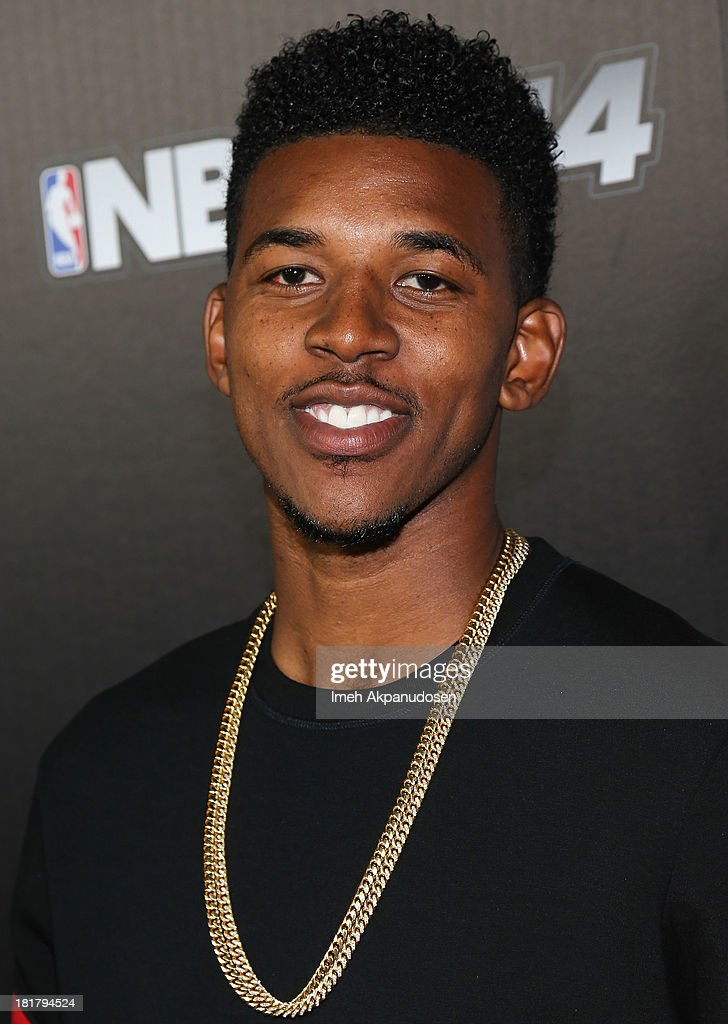 Professional basketball player Nick Young attends the premiere party for the NBA2K14 video game at Greystone Mansion on September 24, 2013 in Beverly Hills, California.