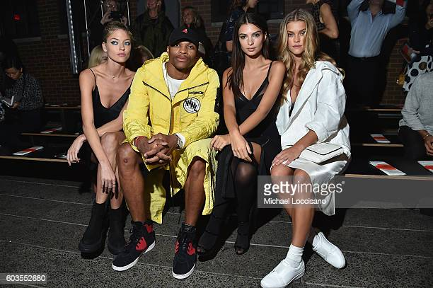 Professional Basketball Player Russell Westbrook attends the DKNY Women fashion show during New York Fashion Week The Shows September 2016 at High...