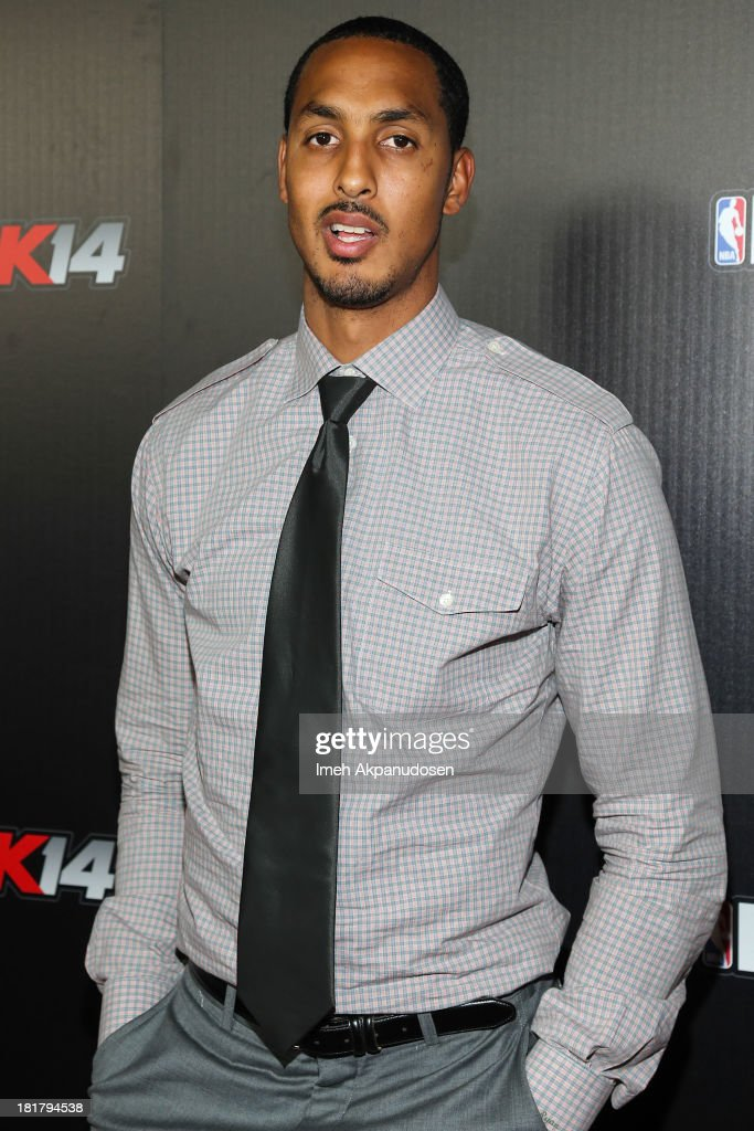 Professional basketball player Ryan Hollins attends the premiere party for the NBA2K14 video game at Greystone Mansion on September 24, 2013 in Beverly Hills, California.
