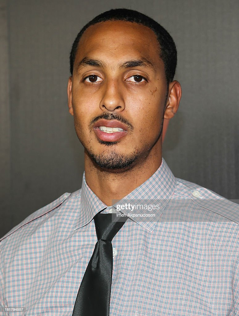Professional basketball player <a gi-track='captionPersonalityLinkClicked' href=/galleries/search?phrase=Ryan+Hollins&family=editorial&specificpeople=182556 ng-click='$event.stopPropagation()'>Ryan Hollins</a> attends the premiere party for the NBA2K14 video game at Greystone Mansion on September 24, 2013 in Beverly Hills, California.
