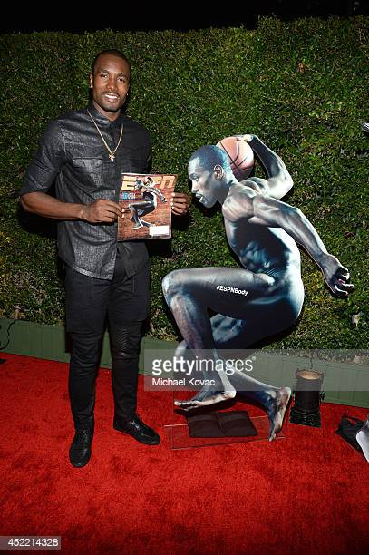 Professional basketball player Serge Ibaka attends the Body at ESPYS PreParty at Lure on July 15 2014 in Hollywood California