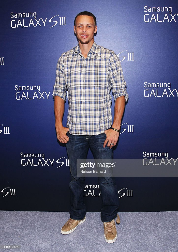 Professional basketball player Stephen Curry attends the Samsung Galaxy S III Launch hosted by Ashley Greene at Skylight Studios on June 20, 2012 in New York City.
