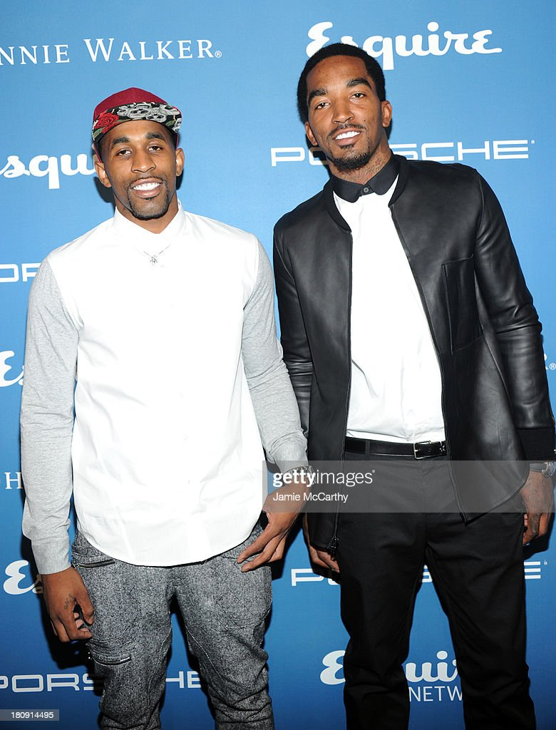 Professional basketball players Chris Smith (L) and J. R. Smith attend the Esquire 80th anniversary and Esquire Network launch celebration at Highline Stages on September 17, 2013 in New York City.