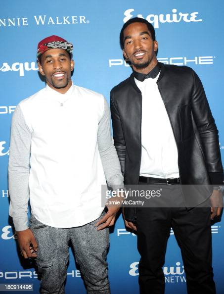 Professional basketball players Chris Smith and J R Smith attend the Esquire 80th anniversary and Esquire Network launch celebration at Highline...
