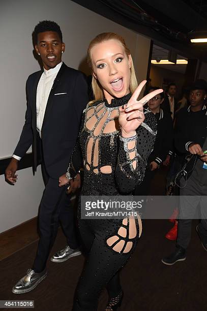Professional baskeyball player Nick Young and singer Iggy Azalea attend the 2014 MTV Video Music Awards at The Forum on August 24 2014 in Inglewood...