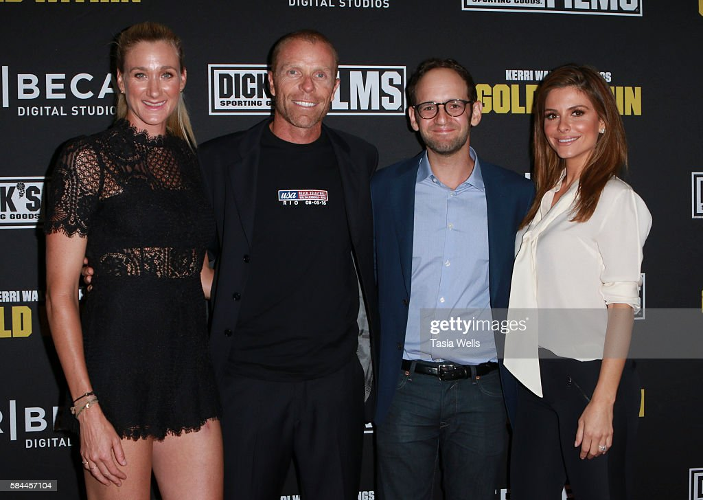 Professional beach volleyball player and three-time Olympic gold medalist Kerri Walsh Jennings, professional beach volleyball player Casey Jennings, director and producer Gabe Spitzer and tv personality Maria Menounos attend the premiere of 'Kerri Walsh Jennings: Gold Within' at The Paley Center for Media on July 28, 2016 in Beverly Hills, California.