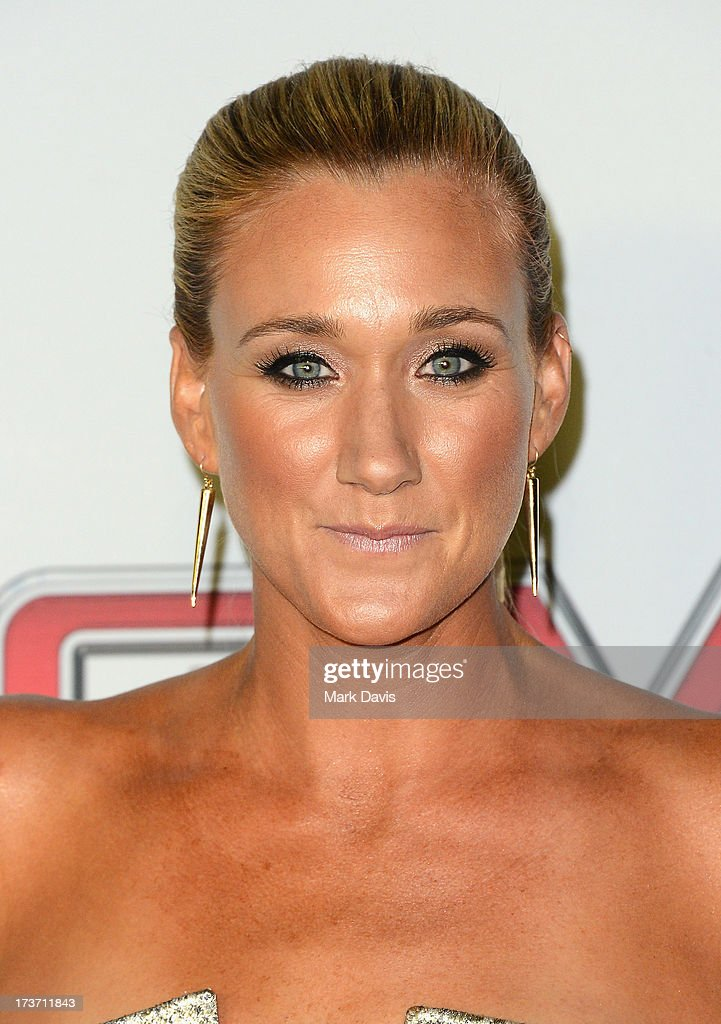 Professional beach volleyball player <a gi-track='captionPersonalityLinkClicked' href=/galleries/search?phrase=Kerri+Walsh+Jennings&family=editorial&specificpeople=162761 ng-click='$event.stopPropagation()'>Kerri Walsh Jennings</a> attends ESPN the Magazine 5th annual 'Body Issue' party at Lure on July 16, 2013 in Hollywood, California.