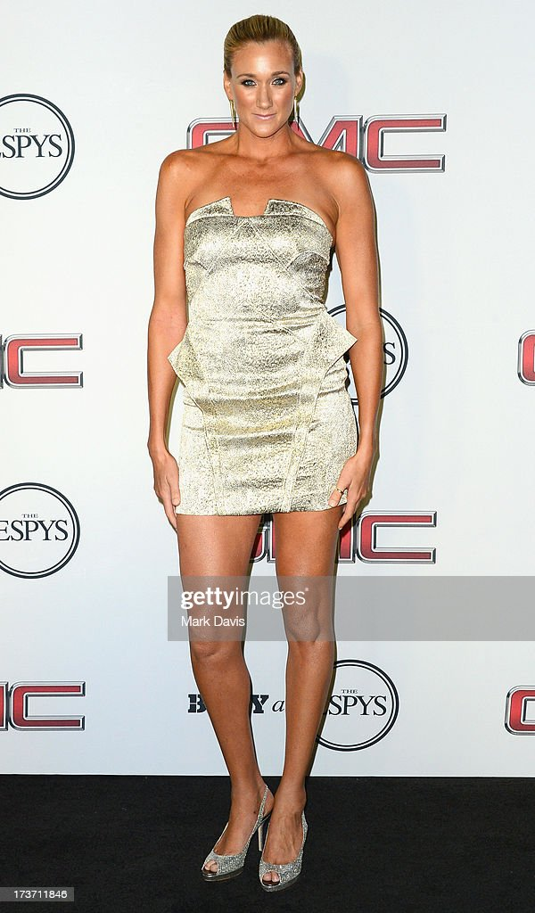 Professional beach volleyball player <a gi-track='captionPersonalityLinkClicked' href=/galleries/search?phrase=Kerri+Walsh&family=editorial&specificpeople=162761 ng-click='$event.stopPropagation()'>Kerri Walsh</a> Jennings attends ESPN the Magazine 5th annual 'Body Issue' party at Lure on July 16, 2013 in Hollywood, California.