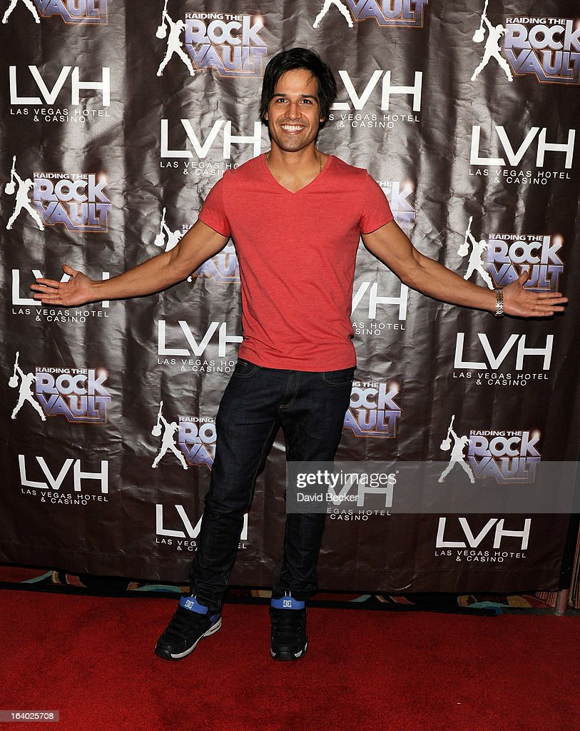 Professional BMX dirt jumper Ricardo Laguna arrives at the grand opening of 'Raiding the Rock Vault' at the Las Vegas Hotel & Casino on March 18, 2013 in Las Vegas, Nevada.