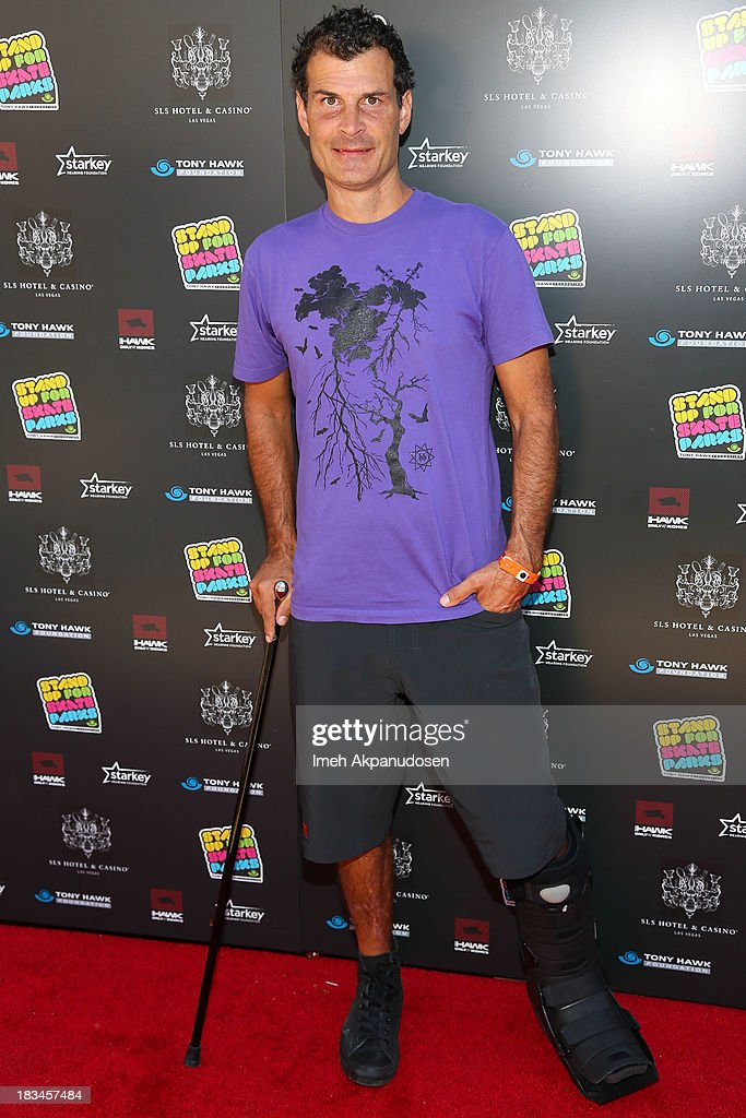 Professional BMX rider Mat Hoffman attends the 10th Annual Stand Up For Skateparks Benefiting The Tony Hawk Foundation on October 5, 2013 in Beverly Hills, California.