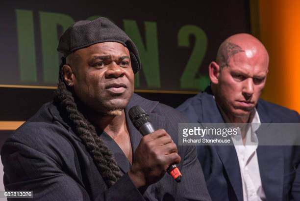 Professional bobybuilder Kai Greene during the QA session at the premiere of 'Generation Iron 2' at National Exhibition Centre on May 12 2017 in...