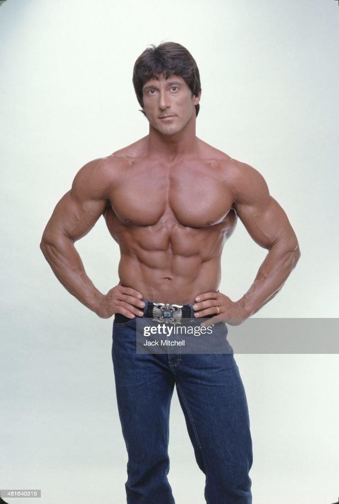 Professional bodybuilder Frank Zane photographed in 1979