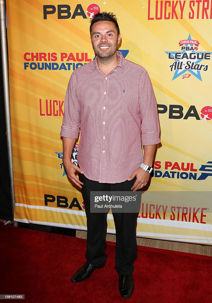 Professional Bowler Jason Belmonte attends the 5th annual Chris Paul PBA All-Stars charity tournament at Lucky Strike Lanes at L.A. Live on January 7, 2013 in Los Angeles, California.
