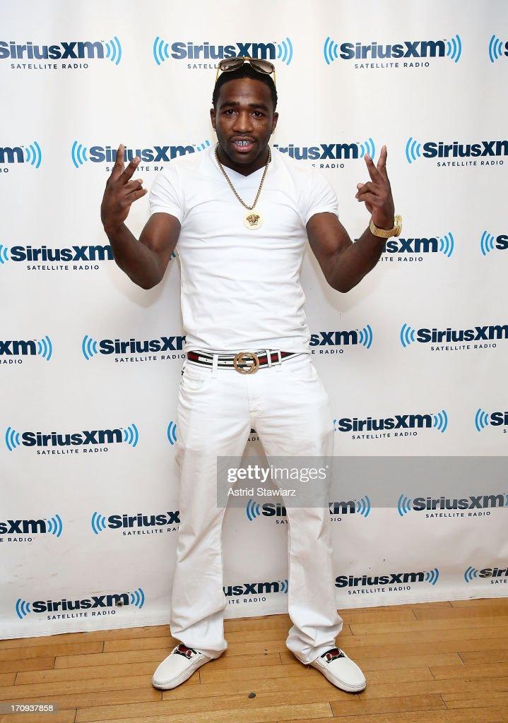 Professional boxer Adrien Broner visits the SiriusXM Studios on June 20, 2013 in New York City.