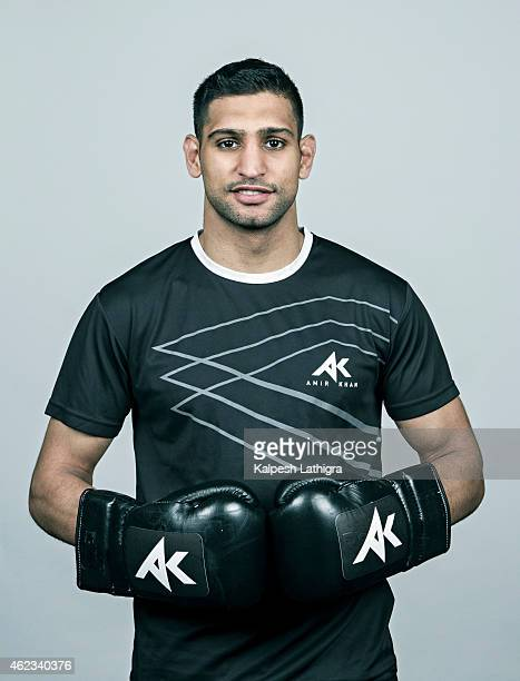 Professional boxer Amir Khan is photographed for the Financial Times on June 4 2014 in Bolton England