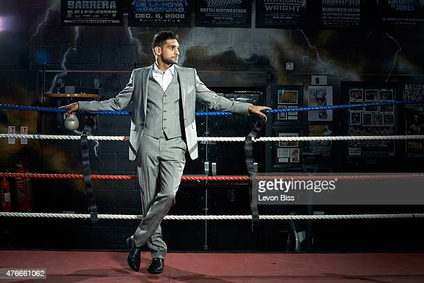 Professional boxer Amir Khan is photographed for the Observer on January 29 2015 in Bolton England