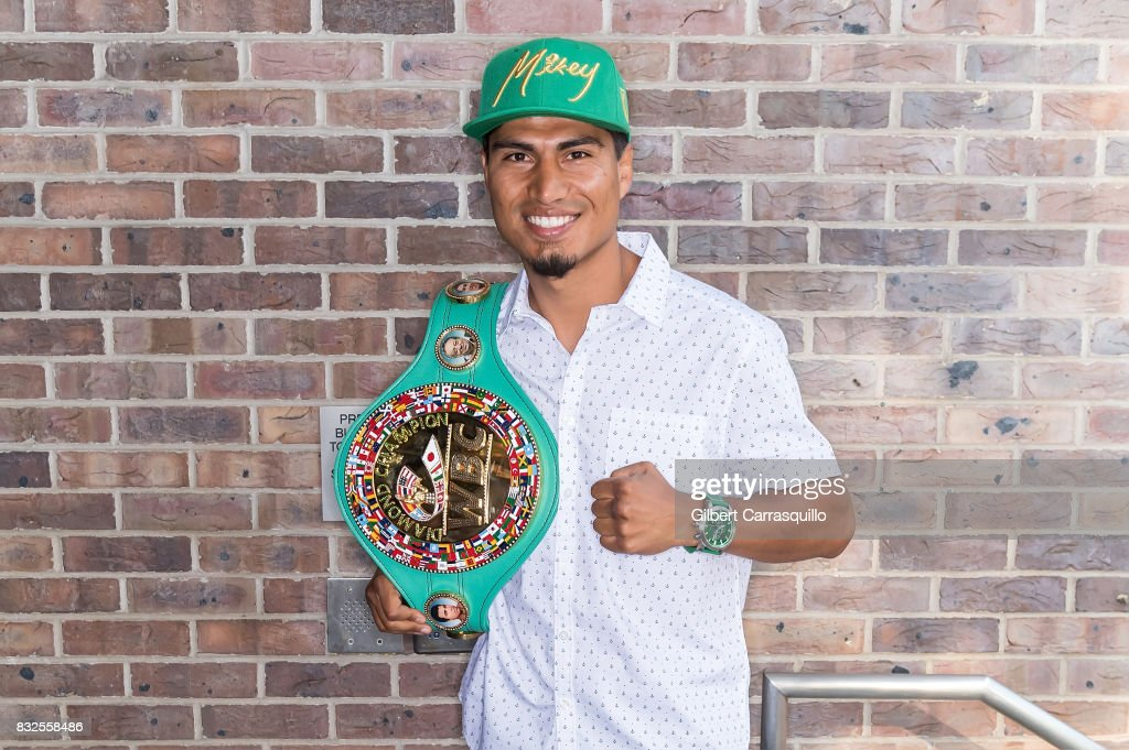 Professional boxer and WBC lightweight champion Mikey Garcia visits Fox 29's 'Good Day' at FOX 29 Studio on August 16, 2017 in Philadelphia, Pennsylvania.