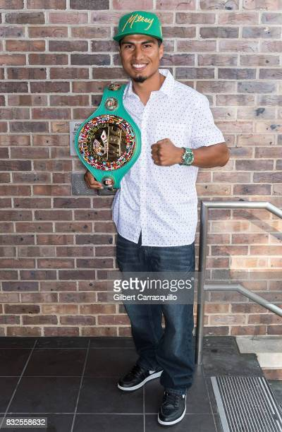 Professional boxer and WBC lightweight champion Mikey Garcia visits Fox 29's 'Good Day' at FOX 29 Studio on August 16 2017 in Philadelphia...