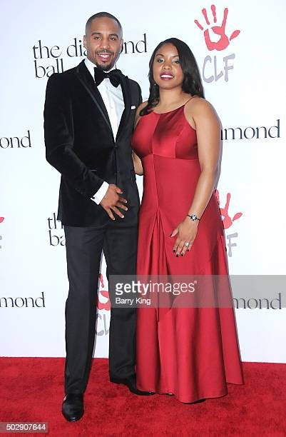 Professional Boxer Andre Ward and Tiffany Ward attend the Rihanna And The Clara Lionel Foundation 2nd Annual Diamond Ball at The Barker Hanger on...