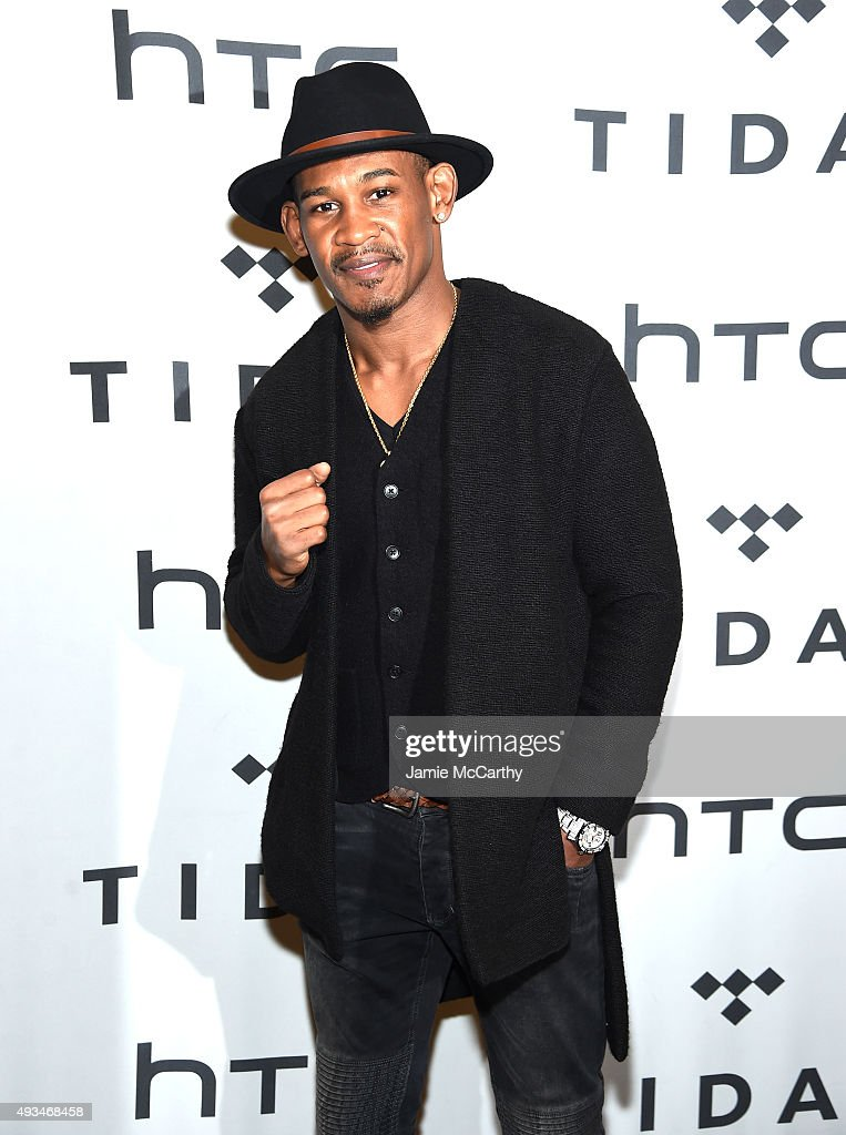 Professional boxer Daniel Jacobs attends