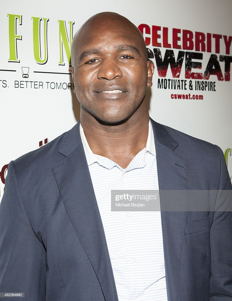 Professional boxer Evander Holyfield attends PREFUNC At The Celebrity Sweat VIP Party at The Palm on July 16, 2014 in Los Angeles, California.