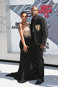 Professional boxer Floyd Mayweather and Melissia Brim attend the 2016 BET Awards at the Microsoft Theater on June 26 2016 in Los Angeles California