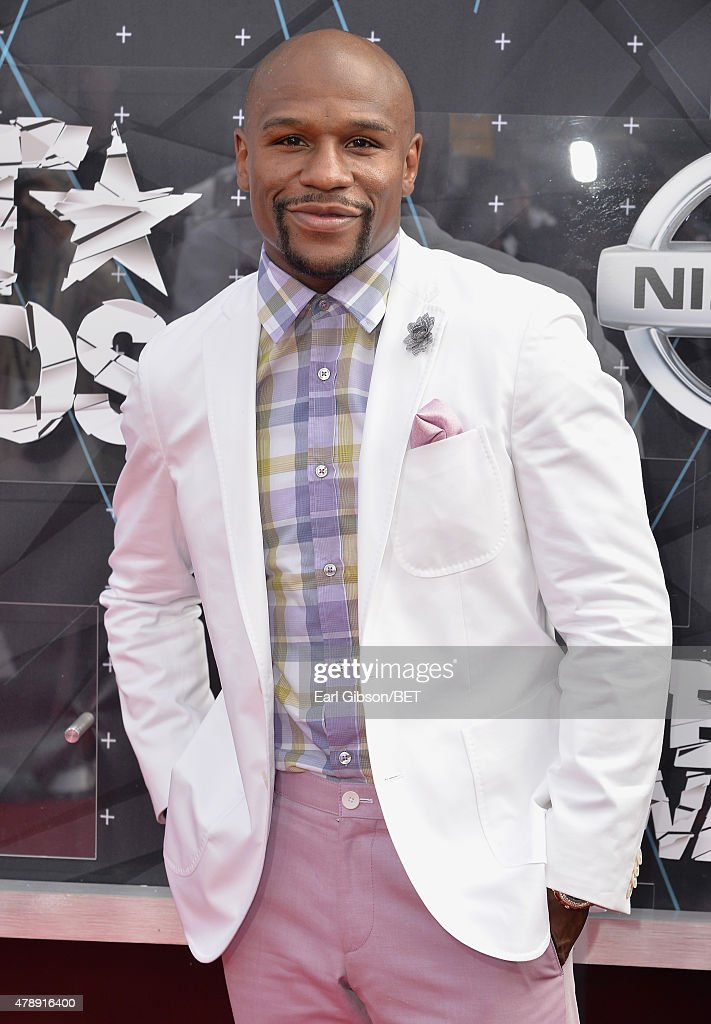 Professional boxer Floyd Mayweather, Jr. attends the 2015 BET Awards at the Microsoft Theater on June 28, 2015 in Los Angeles, California.