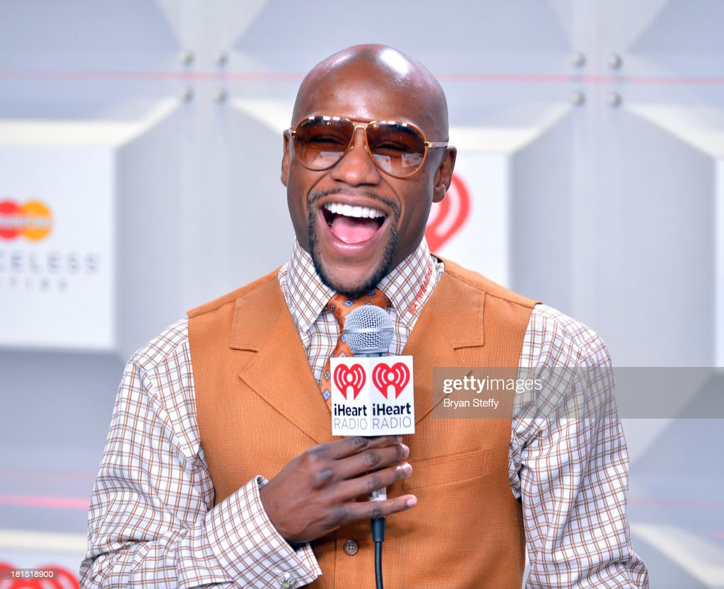 Professional boxer <a gi-track='captionPersonalityLinkClicked' href=/galleries/search?phrase=Floyd+Mayweather+Jr.&family=editorial&specificpeople=2294114 ng-click='$event.stopPropagation()'>Floyd Mayweather Jr.</a> attends the iHeartRadio Music Festival at the MGM Grand Garden Arena on September 21, 2013 in Las Vegas, Nevada.