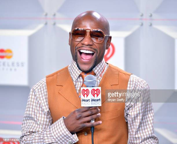 Professional boxer Floyd Mayweather Jr attends the iHeartRadio Music Festival at the MGM Grand Garden Arena on September 21 2013 in Las Vegas Nevada