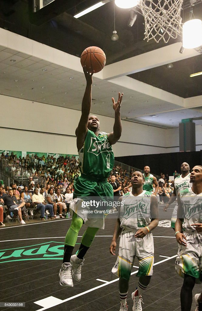Professional boxer Floyd Mayweather participates in the celebrity basketball game presented by Sprite during the 2016 BET Experience on June 25, 2016 in Los Angeles, California.