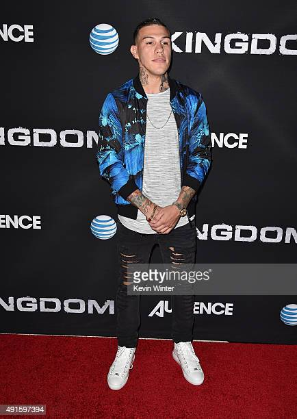 Professional boxer Gabriel Rosado attends the premiere of DIRECTV's 'Kingdom' Season 2 at SilverScreen Theater at the Pacific Design Center on...