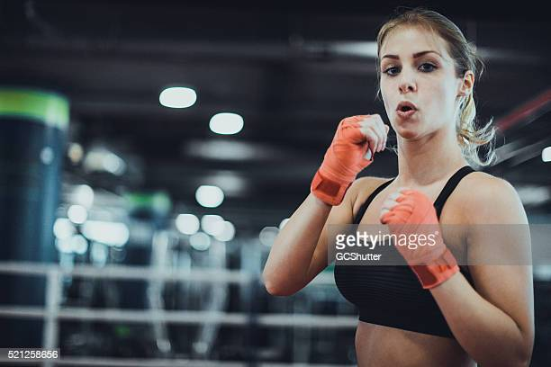 Professional Boxer in a Boxing Ring