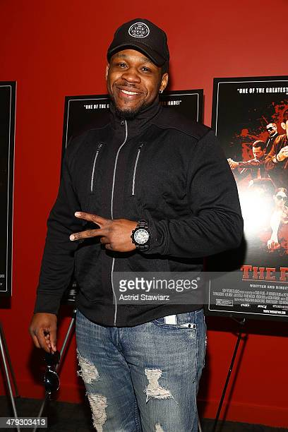 Professional boxer Jarrell 'Big Baby' Miller attends 'The Raid 2' special screening at Sunshine Landmark on March 17 2014 in New York City