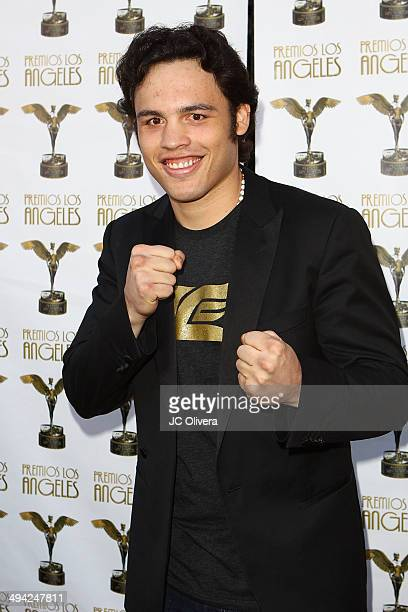 Professional Boxer Julio Cesar Chavez Jr arrives at Premios Los Angeles 2014 at The Theatre at Ace Hotel Downtown LA on May 28 2014 in Los Angeles...