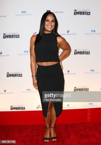 professional Boxer Laila Ali attends the red carpet event for NBC's 'Celebrity Apprentice' at Westin Bonaventure Hotel on March 2 2016 in Los Angeles...
