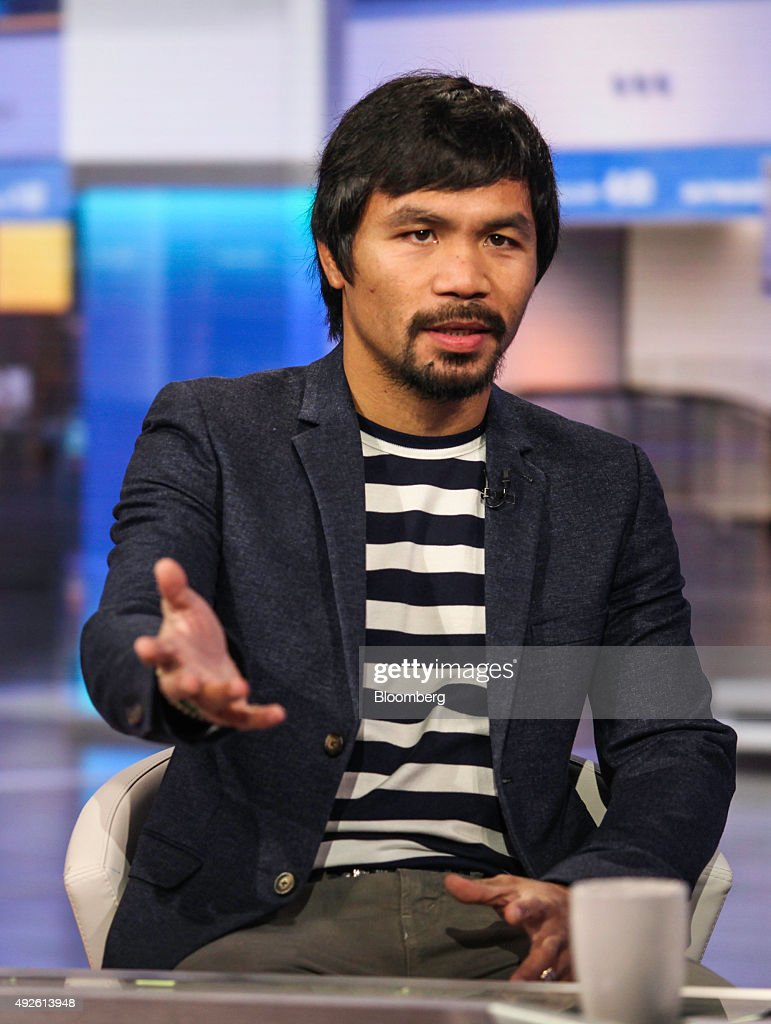 professional boxer manny pacquiao interview photos and images professional boxer manny pacquiao speaks during a bloomberg television interview in new york u s