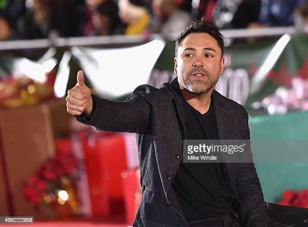 Professional boxer Oscar De La Hoya attends the 2015 Hollywood Christmas Parade on November 29 2015 in Hollywood California
