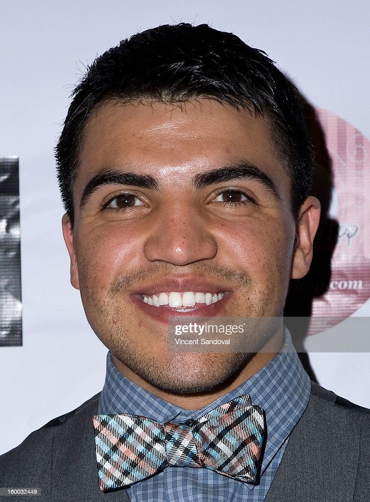 Professional boxer <a gi-track='captionPersonalityLinkClicked' href=/galleries/search?phrase=Victor+Ortiz&family=editorial&specificpeople=2809263 ng-click='$event.stopPropagation()'>Victor Ortiz</a> attends the premiere of 'Vishwaroopam' at Pacific Theaters at the Grove on January 24, 2013 in Los Angeles, California.