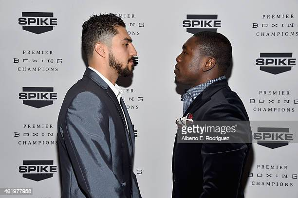 Professional boxers Josesito Lopez and Andre Berto attendSpike TV's announcement of it's new boxing series 'Premier Boxing Champions' on January 22...