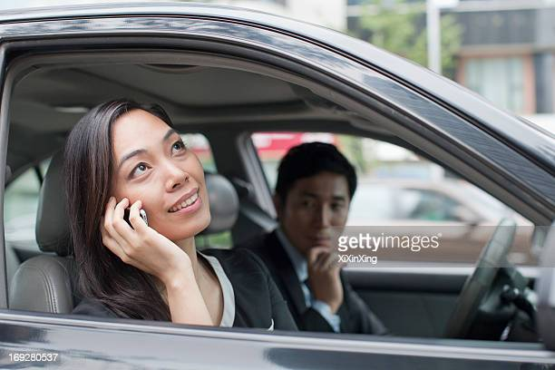 Professional Business People In Car