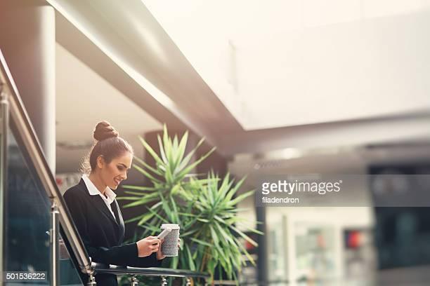 Professional Businesswoman Texting