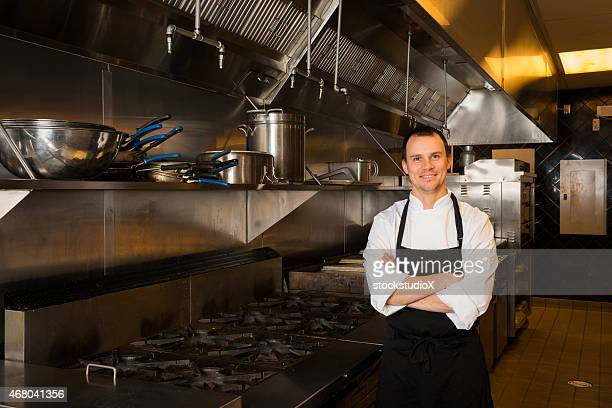 Professional Chef portrait in a commercial kitchen