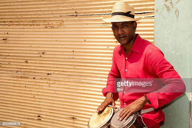 Professional Cuban Conga Drum Player, Havana, Cuba