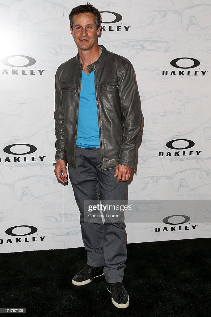 Professional cyclist Brian Lopes arrives at Oakley's Disruptive by Design at Red Studios on February 24, 2014 in Los Angeles, California.