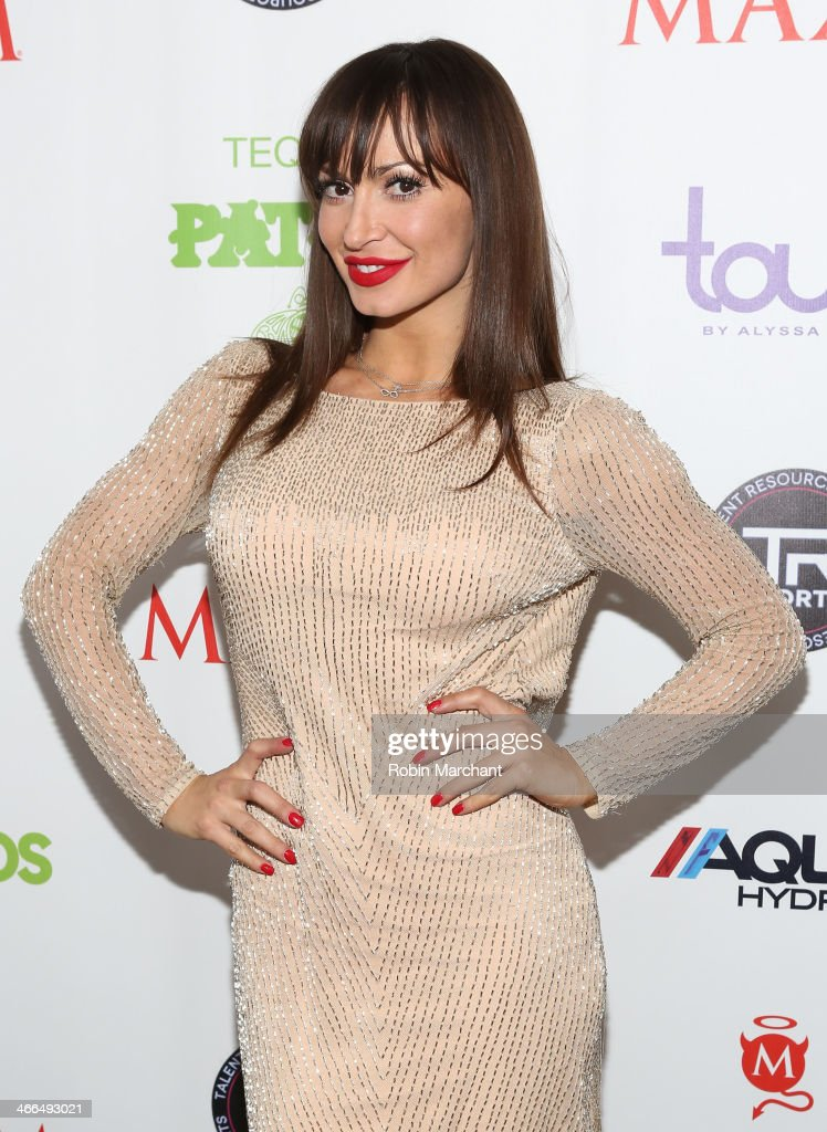 Professional dancer and TV personality Karina Smirnoff attends Talent Resources Sports presents MAXIM 'BIG GAME WEEKEND' sponsored by AQUAhydrat, Heavenly Resorts, Wonderful Pistachios, Touch by Alyssa Milano, and Philippe Chow on February 1, 2014 in New York City.