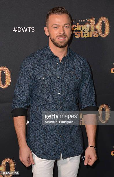 Professional dancer Artem Chigvintsev attends the premiere of ABC's 'Dancing With The Stars' season 20 at HYDE Sunset Kitchen Cocktails on March 16...