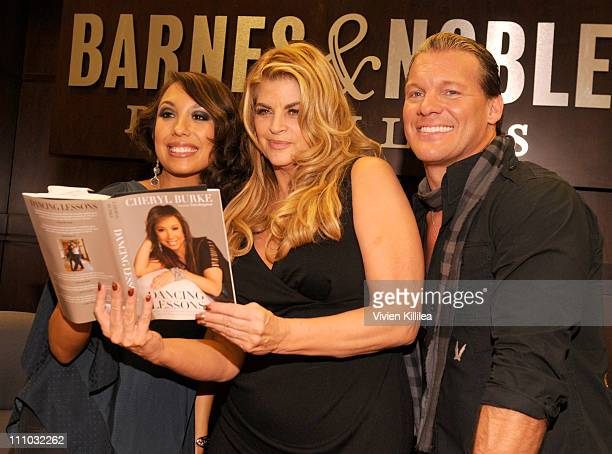 Professional dancer Cheryl Burke actress Kirstie Alley and wrestler Chris Jericho attend Cheryl Burke And Chris Jericho book signing of their books...