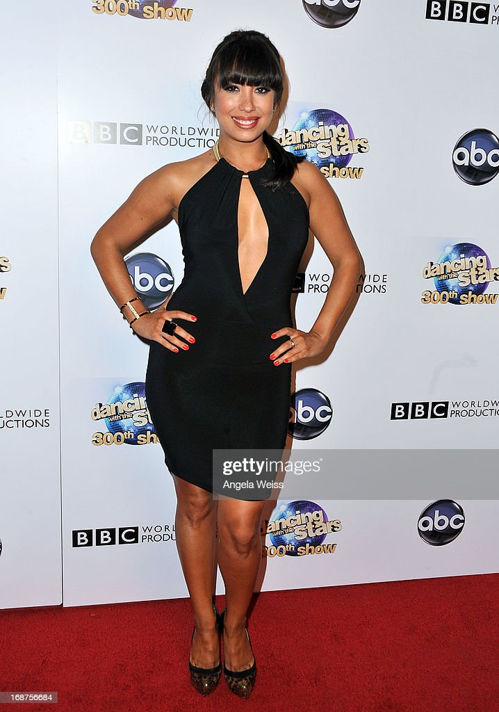 Professional dancer <a gi-track='captionPersonalityLinkClicked' href=/galleries/search?phrase=Cheryl+Burke&family=editorial&specificpeople=540289 ng-click='$event.stopPropagation()'>Cheryl Burke</a> arrives at ABC's 'Dancing With The Stars' 300th Episode Celebration at Boulevard3 on May 14, 2013 in Hollywood, California.