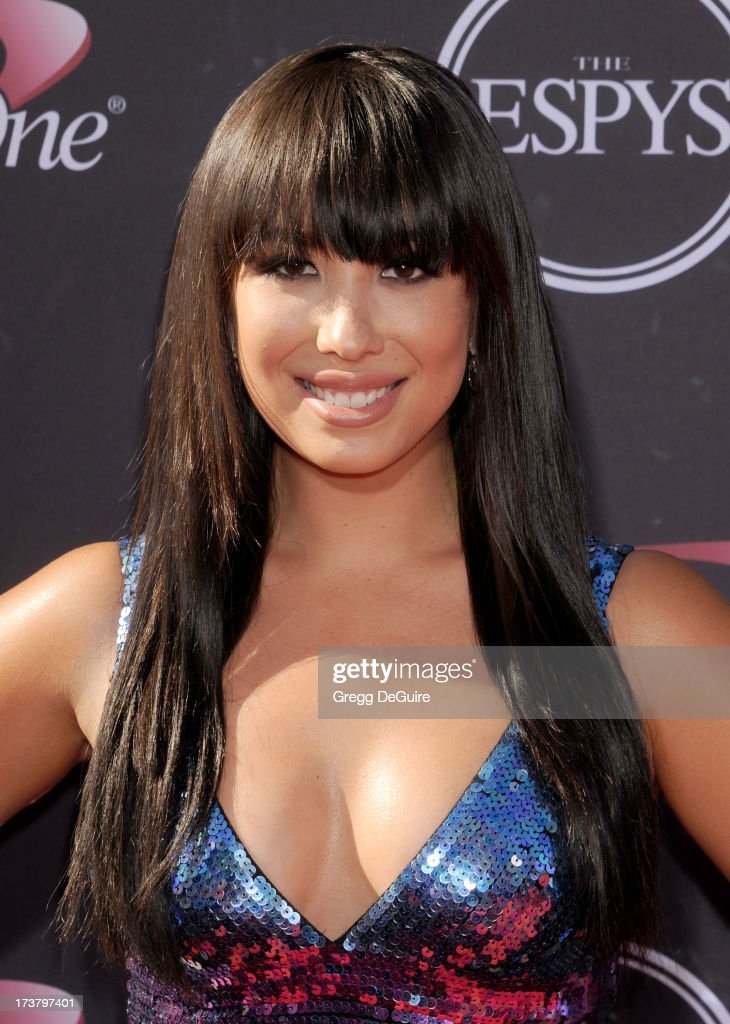 Professional dancer <a gi-track='captionPersonalityLinkClicked' href=/galleries/search?phrase=Cheryl+Burke&family=editorial&specificpeople=540289 ng-click='$event.stopPropagation()'>Cheryl Burke</a> arrives at the 2013 ESPY Awards at Nokia Theatre L.A. Live on July 17, 2013 in Los Angeles, California.
