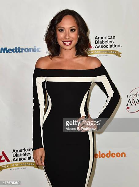Professional dancer Cheryl Burke attends the Greater Los Angeles Chapter Of The American Diabetes Association's Father of the Year Awards at The...